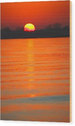 A Last Sunset Wood Print by Karol Livote