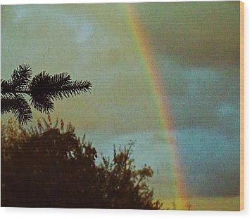 A Late Summer Sky Wood Print