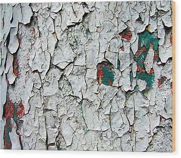 A Legacy In Peeling Paint Wood Print by Robert Knight