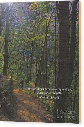 A Light Unto My Path Wood Print by Charles Robinson