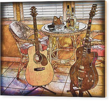 A Little Bit Country-a Little Bit Blues Wood Print by Barry Jones