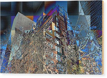 A Little Bit Of Spring In The City Wood Print by Miriam Danar