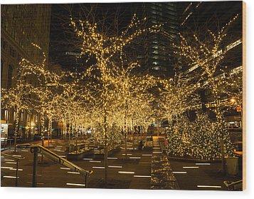 A Little Golden Garden In The Heart Of Manhattan New York City Wood Print