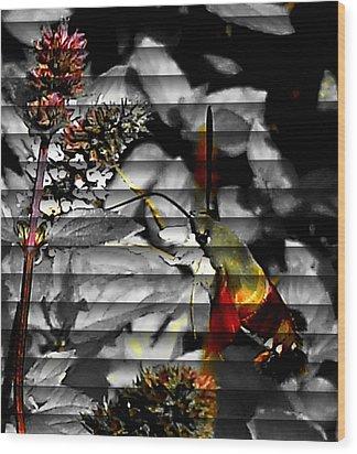 Wood Print featuring the photograph A Little Peak by Yolanda Raker