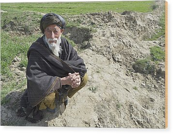 A Local Afghan Man Near A Village Wood Print by Stocktrek Images