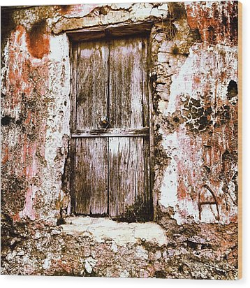 A Locked Door Wood Print by H Hoffman