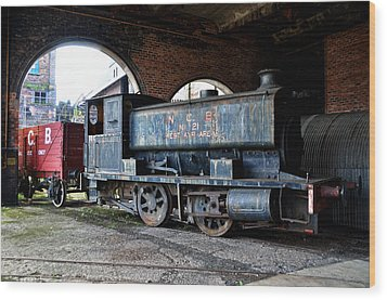 A Locomotive At The Colliery Wood Print by RicardMN Photography