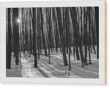 A Long Winter's Day Wood Print