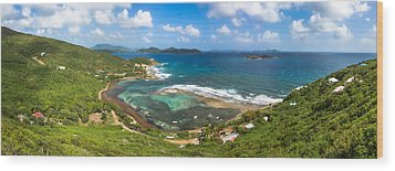 John's Folly Bay From Tradewinds Cottage In St. John Usvi Wood Print