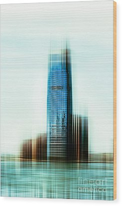 A Look To New Jersey II - Steel Wood Print by Hannes Cmarits