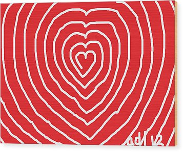A Love That Is Without Limits Wood Print by Anita Dale Livaditis