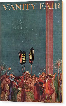 A Magazine Cover For Vanity Fair Of A Carnival Wood Print by Raymond Crawford Ewer