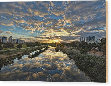 Wood Print featuring the photograph A Magical Marshmallow Sunrise  by Ron Shoshani