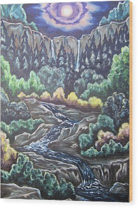 Wood Print featuring the painting A Majestic World by Cheryl Pettigrew