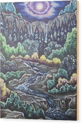 A Majestic World Wood Print