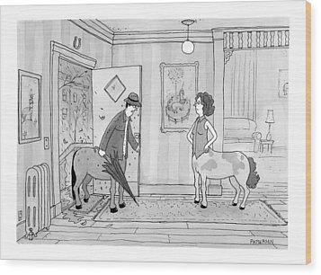 A Male Centaur Wood Print