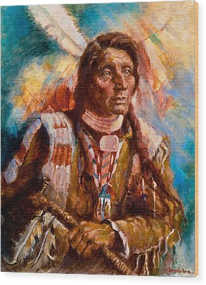 A Man Of Peace Wood Print