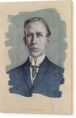 Wood Print featuring the painting A Man Who Used To Be Somebody To Someone by James W Johnson