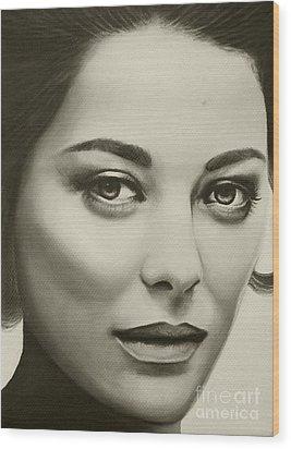 A Mark Of Beauty - Marion Cotillard Wood Print