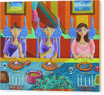 A Meal Without Rice Wood Print by Paul Hilario