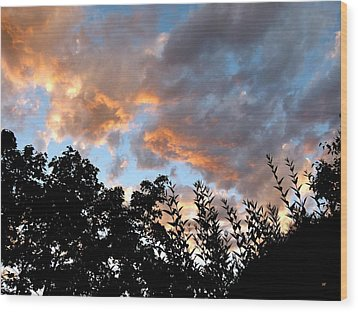 A Memorable Sky Wood Print by Will Borden
