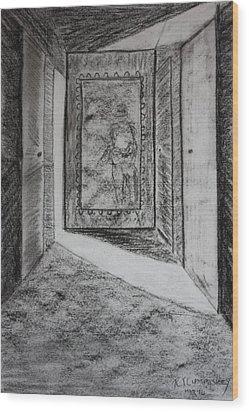 A Memory 3 Wood Print by Roger Cummiskey