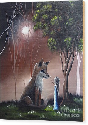 A Midnight Moment By Shawna Erback Wood Print by Shawna Erback