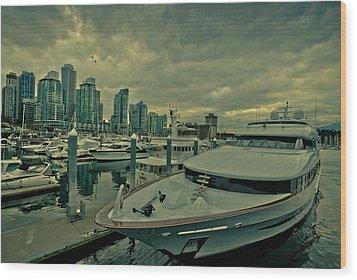 A Million Dollar Ride Yacht  Wood Print by Eti Reid