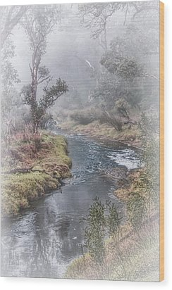 A Misty Morning In Bridgetown Wood Print