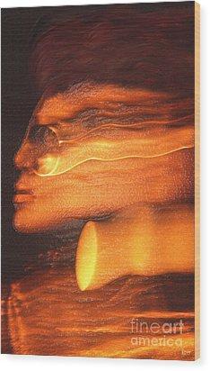 A Modern Woman Wood Print by Jeff Breiman