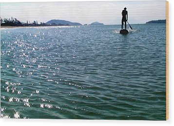 A Moment Of Enjoy Sup #1 Wood Print by Chikako Hashimoto Lichnowsky