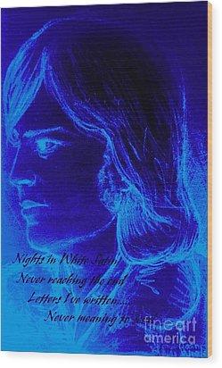 A Moody Blue Wood Print