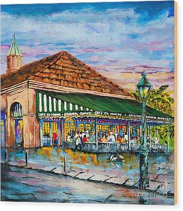 A Morning At Cafe Du Monde Wood Print by Dianne Parks