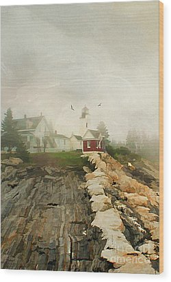 A Morning In Maine Wood Print by Darren Fisher