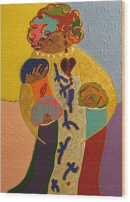 A Mother's Love Wood Print by Clarissa Burton