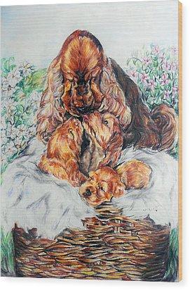 A Mother's Love Wood Print by Melanie Alcantara Correia