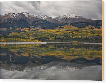 A Mt. Elbert Fall Wood Print by Morris  McClung
