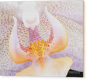 A Neighbors Orchid Wood Print