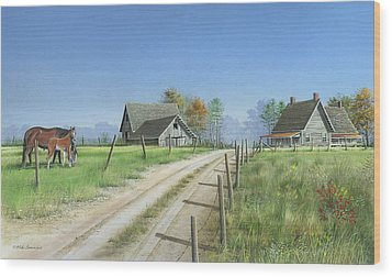 Wood Print featuring the painting A New Beginning by Mike Brown