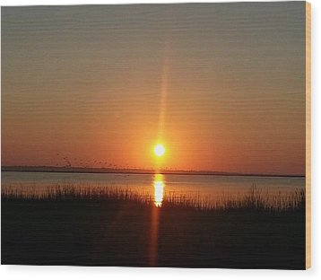 A New Day Is Born Wood Print by Joetta Beauford