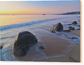 A New Day Singing Beach Wood Print