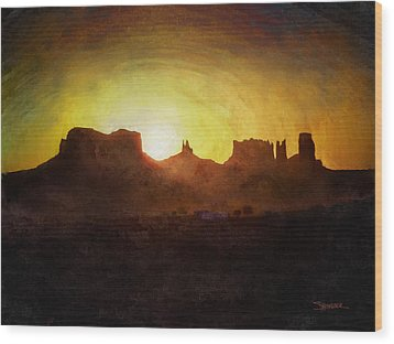 A New Day - Monument Valley Wood Print