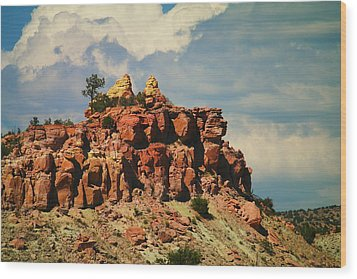A New Mexico View Wood Print by Jeff Swan