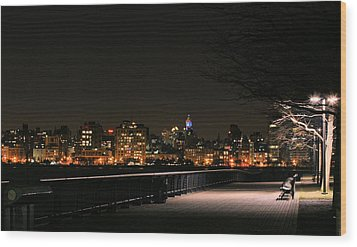 A Night In The Park Wood Print by JC Findley
