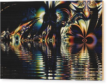 A Night On The Water Wood Print