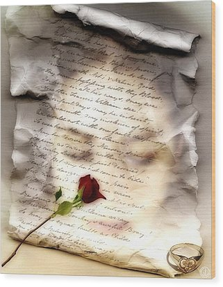 A Note And She Was Gone Wood Print by Gun Legler