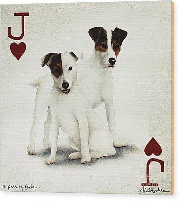 A Pair Of Jacks... Wood Print by Will Bullas