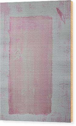 A Paler Shade Of Pink Wood Print
