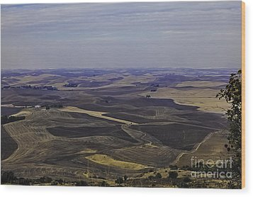 A Palouse State Of Mind Wood Print by Nancy Marie Ricketts