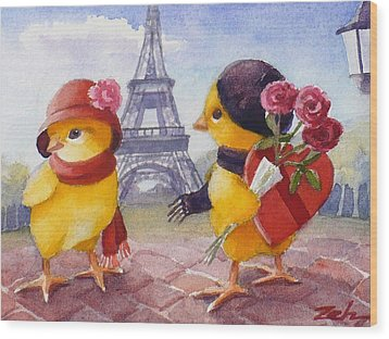 A Paris Valentine Wood Print